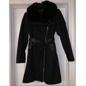 Via Spiga Jackets & Coats - Via Spiga faux fur wool-blend Coat